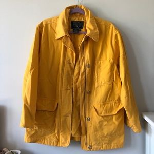RARE Eddie Bauer VINTAGE yellow coat